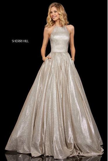 Sherri Hill 52964 Nude/Silver