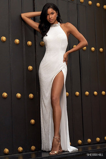 Sherri Hill 54460 Ivory/Silver
