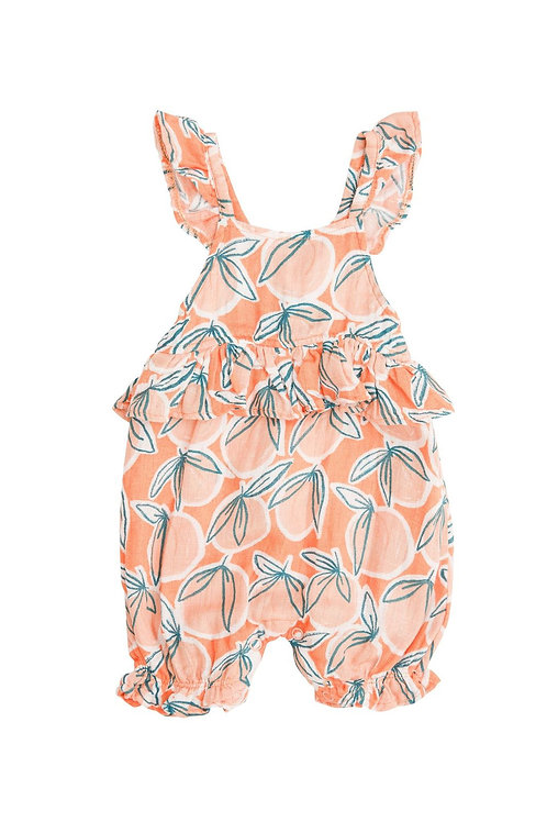Angel Dear Peachy Ruffle Empire Waist Shortie Romper