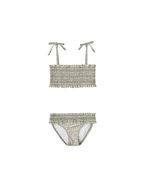Rylee & Cru Sage Garden Smocked Bikini