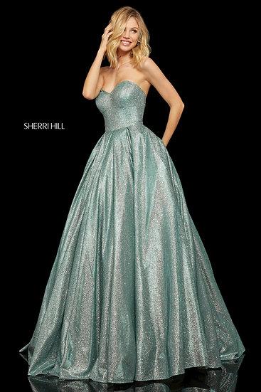 Sherri Hill 52959 Turquoise/Silver
