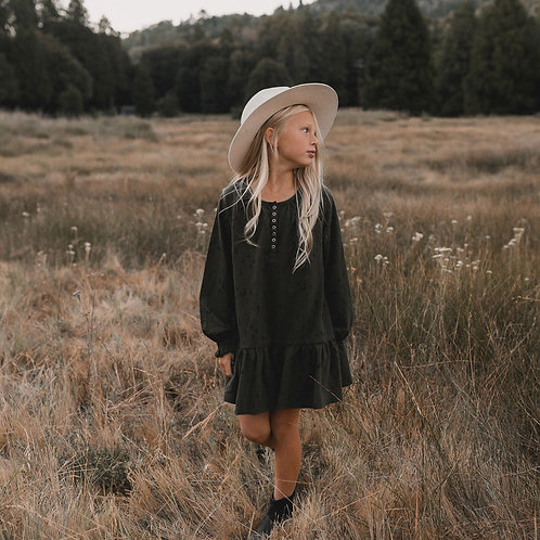 Rylee + Cru Woods Swing Dress Forest