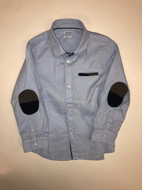 Mayoral Long Sleeve Button Up Shirt Blue