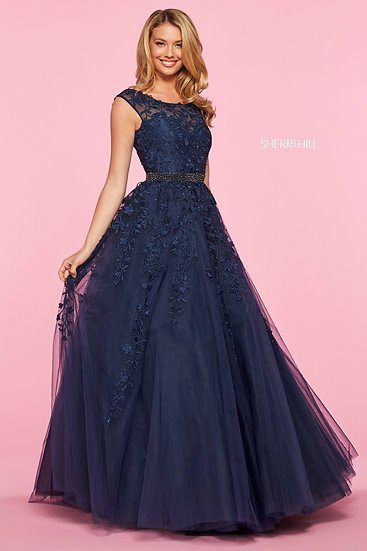 Sherri Hill 53356 Navy