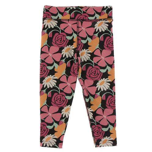 Kickee Pants Print Performance Jersey Legging Zebra Market Flowers
