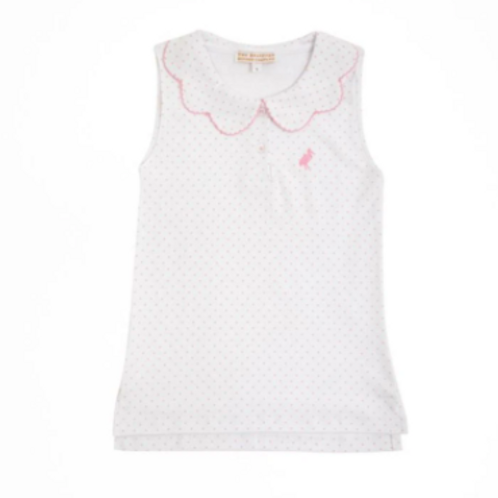 The Beaufort Bonnet Company Paiges Playful Polo Hamptons Hot Pink Micro Dot