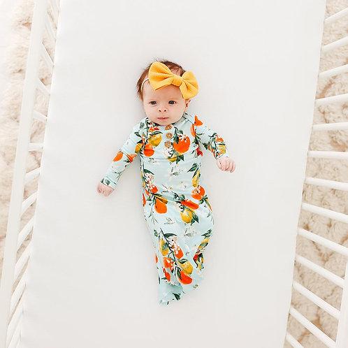Posh Peanut Mirabella Wood Button Zippered Gown