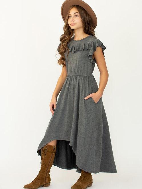 Joyfolie Nyla Dress Heather Charcoal