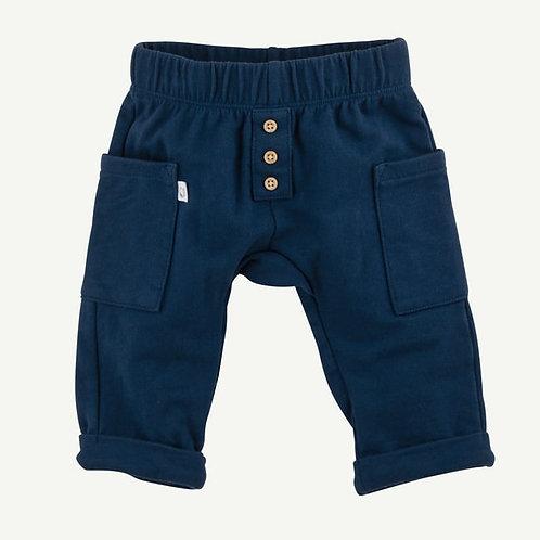 Oliver & Rain Navy Roomy-Fit Pocket Pants