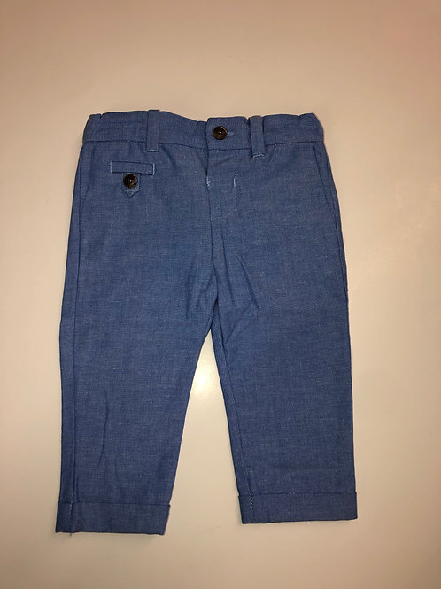 Mayoral Dressy Linen Pants Light Blue