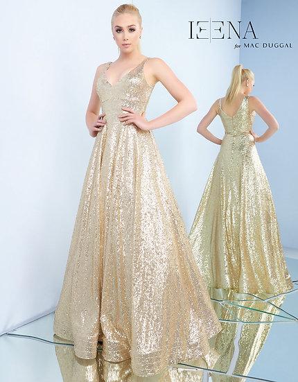 Mac Duggal 48798 Gold Sequin