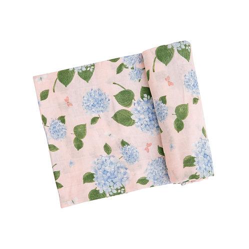 Angel Dear Hydrangea Swaddle Blanket Pink