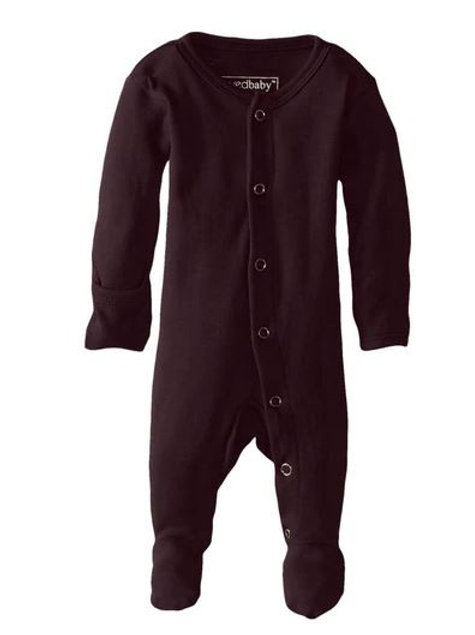 L'ovedbaby Footed Overall Eggplant