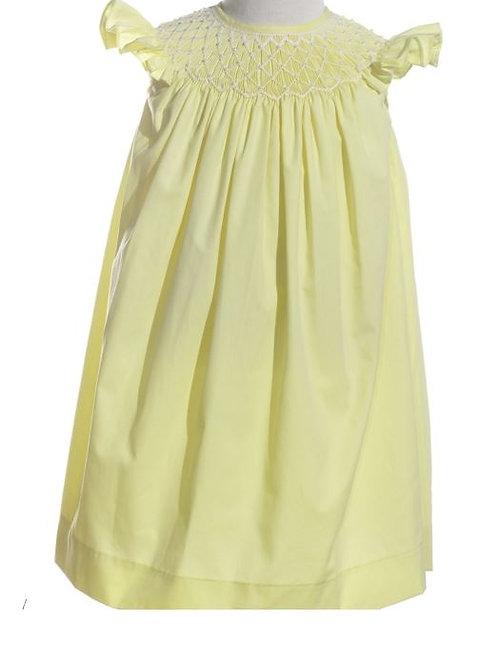 Mom and Me Smocked Yellow Dress