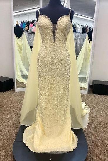Sherri Hill 53494 Yellow/Silver