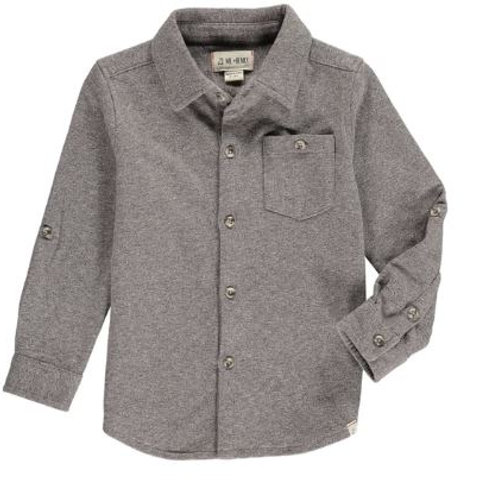 Me & Henry  Brown Stretch Jersey Shirt