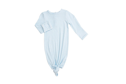 Angel Dear Modern Basics Puppy Play Knotted Gown Blue Stripe