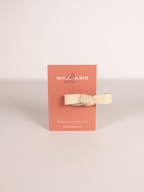 The Little Williams Eden Ivory Knot Bow