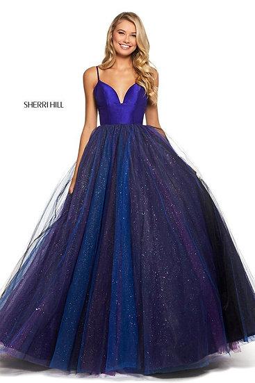 Sherri Hill 53174 Purple/Black