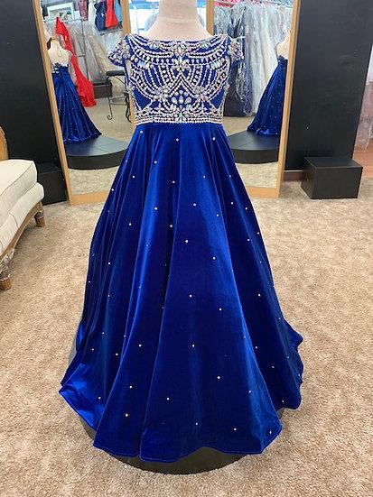 Unique Fashion 3198F Velvet Royal