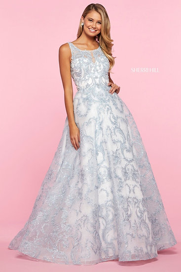Sherri Hill 53545 Ivory/Blue