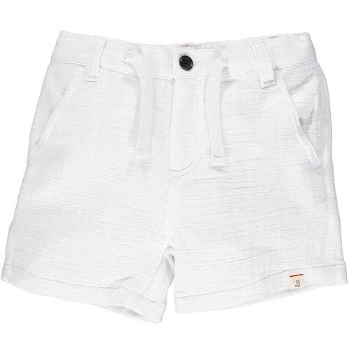 Me & Henry Crew Gauze Shorts White