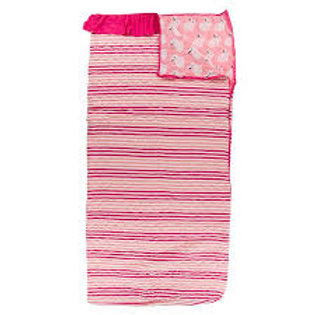 Print Quilted Ruffle Sleepover Bag Forest Fruit Stripe