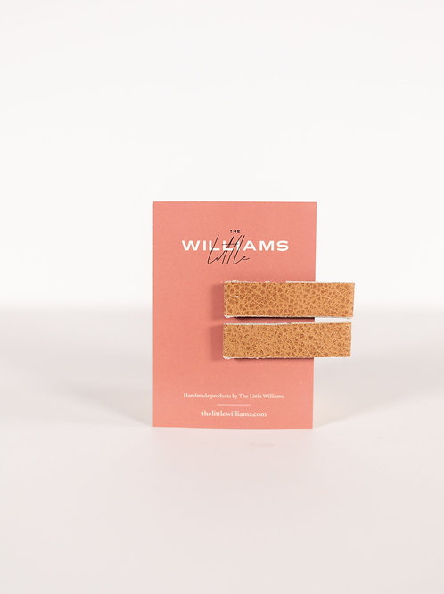 The Little Williams Hensley Caramel Leather Clip