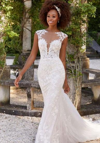 Mori Lee 2308 Brinkley Illusion Neckline Bridal Dress