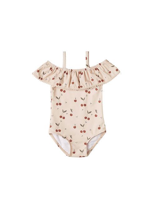 Rylee & Cru Cherries Off the Shoulder Swimsuit