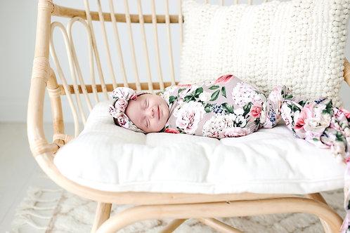 Posh Peanut Cassie Infant Swaddle and Headwrap *SET*
