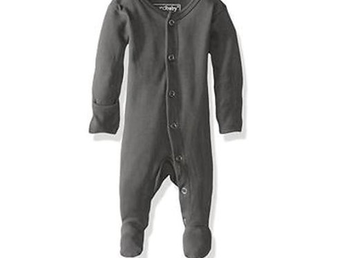 L'oved Baby Organic Footed Overall Gray
