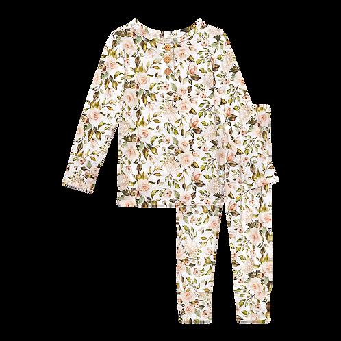 Posh Peanut Katherine Long Sleeve Henley Loungewear