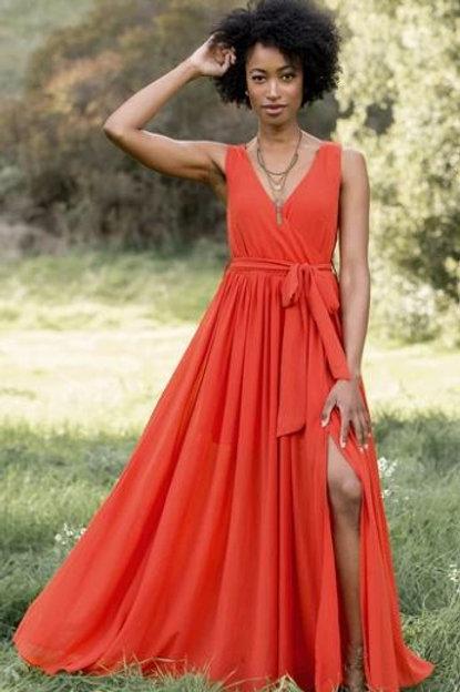 Joyfolie Audrey Paprika dress