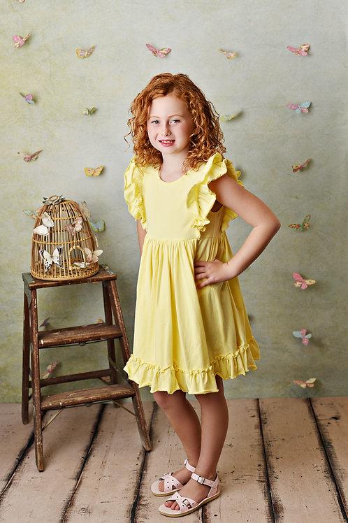 Serendipity Bella Pocket Dress Lemon