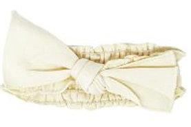 L'ovedbaby Organic Smocked Tie Headband Beige