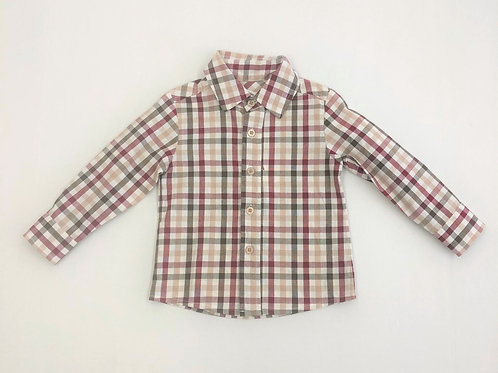 Evie's Closet Button Up Cranberry Plaid