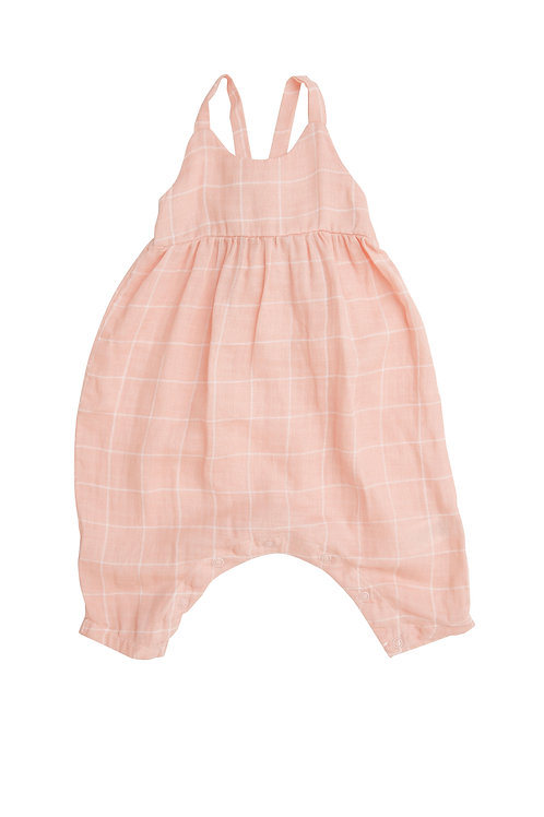 Angel Dear Off the Grid Tie Back Romper Pink
