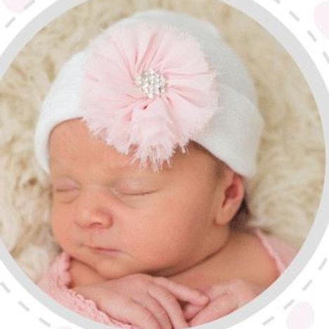ilybean White Hat Pink Fairy Flower