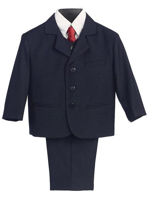 Lito Childrens Wear Boys 5 Piece Suit Navy
