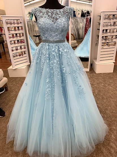 Sherri Hill 53356 Light Blue
