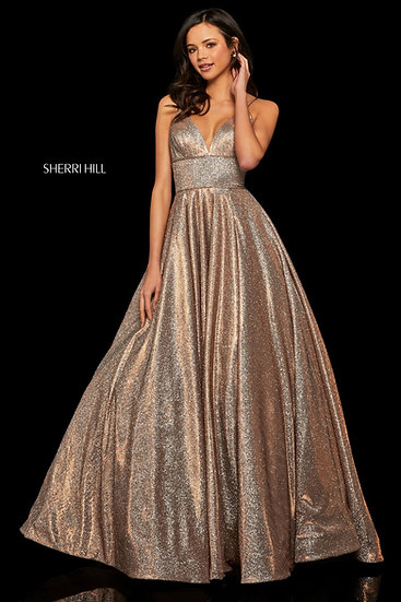 Sherri Hill 52960 Mocha/Silver