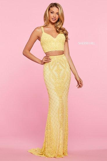 Sherri Hill 53437 Yellow