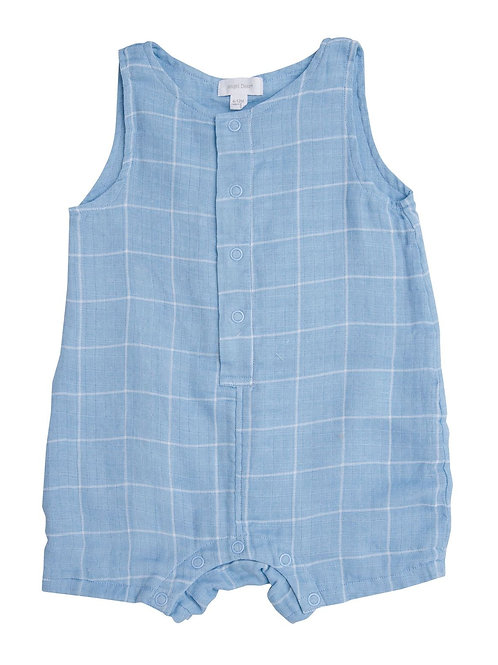 Angel Dear Off the Grid Shortie Romper Blue