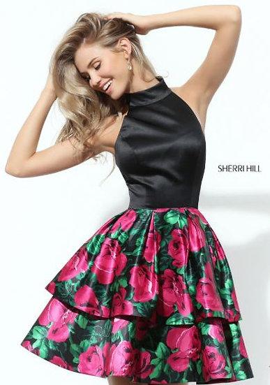 Sherri Hill 50721 Black/Fuchsia