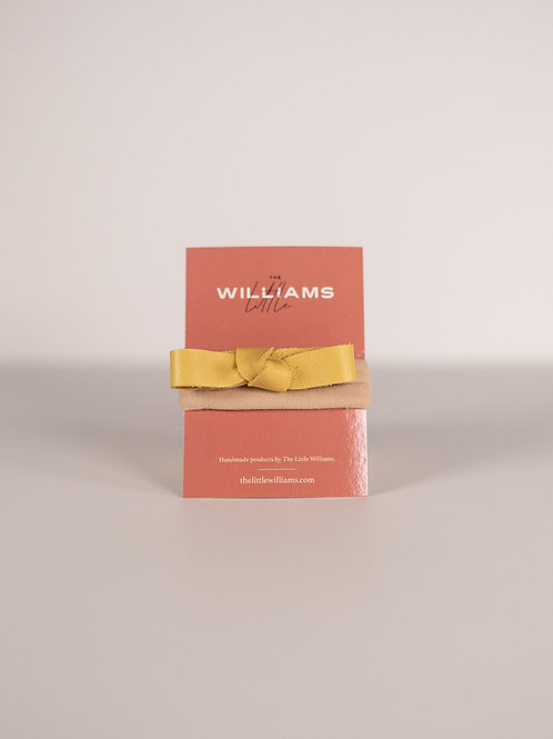 The Little Williams Eden Yellow Knot Bow
