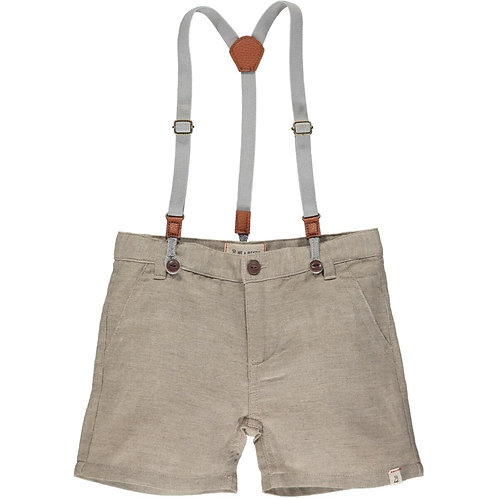 Me & Henry Captain Shorts with Suspenders Beige