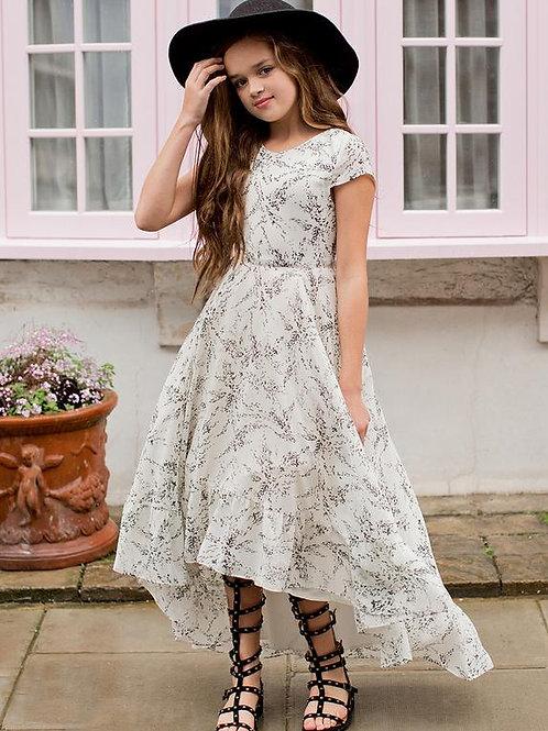 Joyfolie Skye Dress Gray Floral