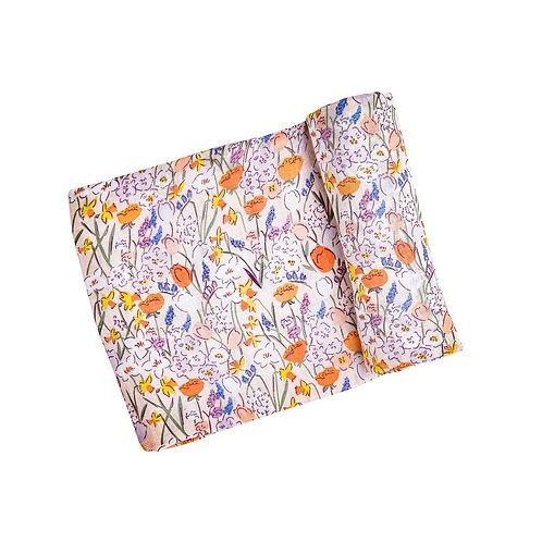 Angel Dear Springtime Floral Swaddle Blanket Multi