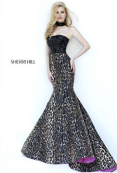 Sherri Hill 32157 Black/Leopard